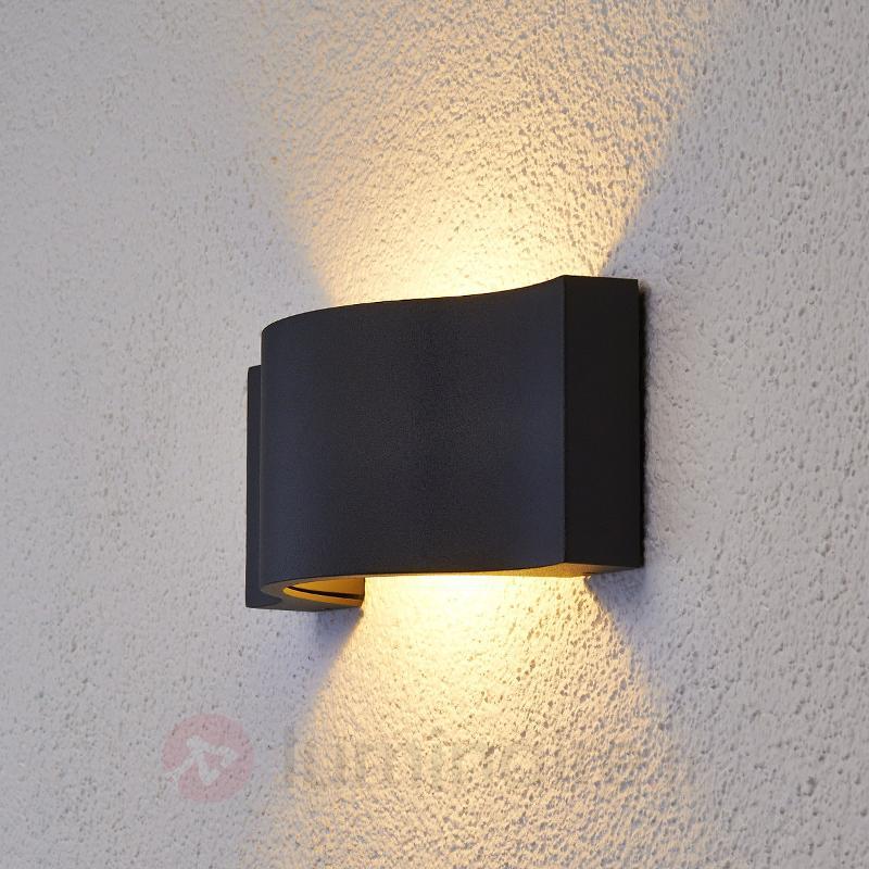 Applique d'extérieur LED élégante Jace graphite - Appliques d'extérieur LED