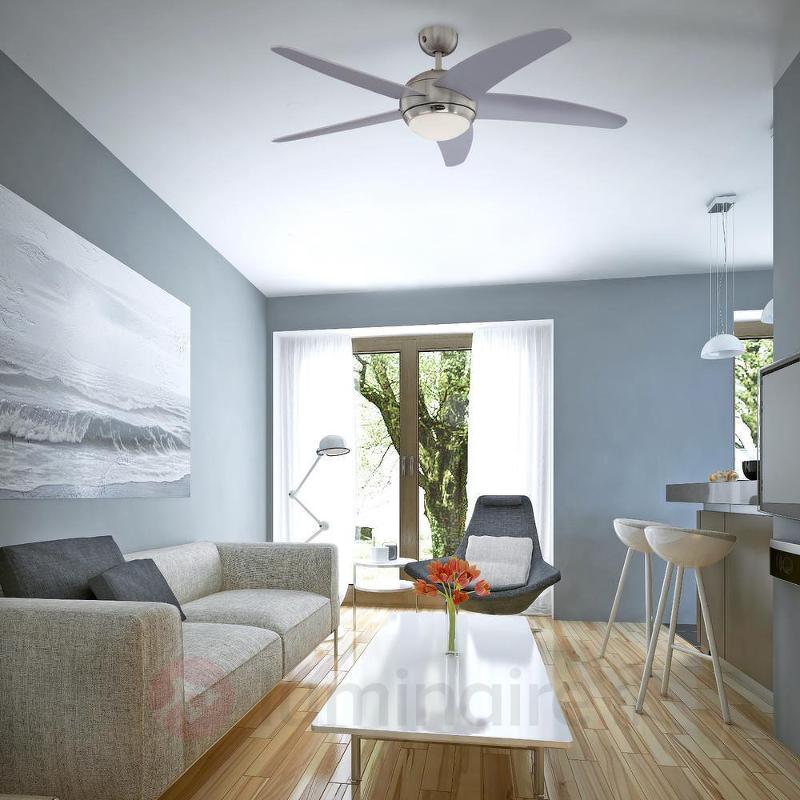 Ventilateur de plafond lumineux Bendan argenté - Ventilateurs de plafond modernes