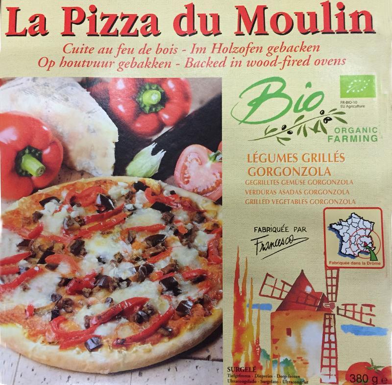 Pizza légumes grillés, gorgonzola - Biologique et surgelée