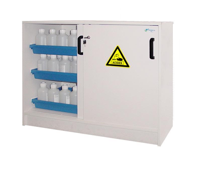 Armoires de sûreté pour produits corrosifs - Armoires adaptées au liquides corrosifs