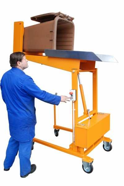 Wheelie bin tipping station type MKS