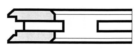 R9 A feritoria, con pattini smussati in alto, con unghiette - Produzione di fasce elastiche raschiaolio a Milano