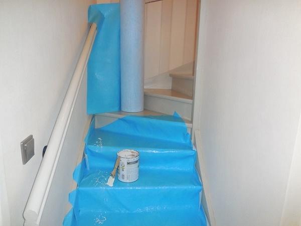 Protection d'escalier et parquet