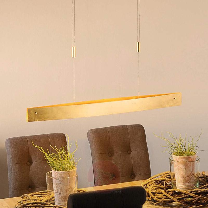 Golden Malu LED pendant lamp, 100 cm - Pendant Lighting