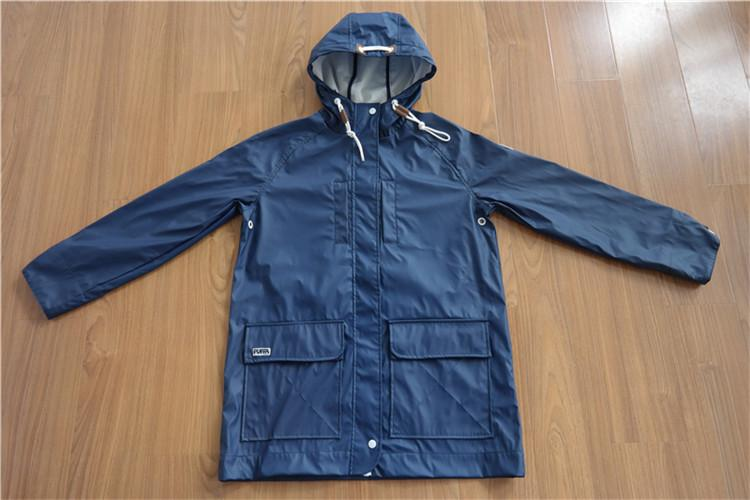 Men's hooded PU coat with long sleeves for spring and fall YH16-41MTN