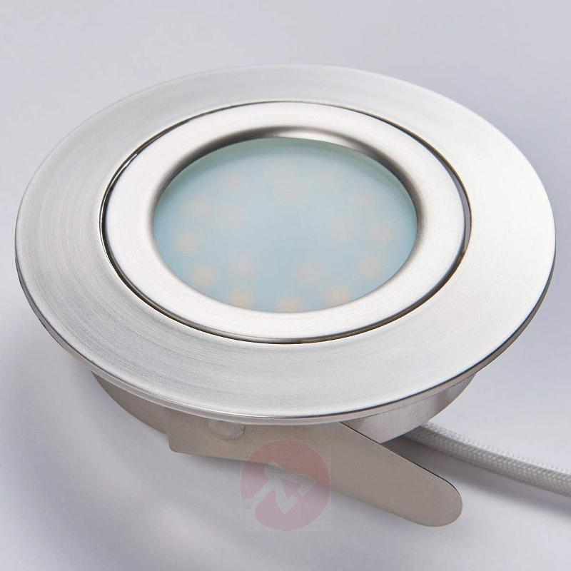 Set of 3 LED recessed lights Andrej, matt nickel - Recessed Spotlights