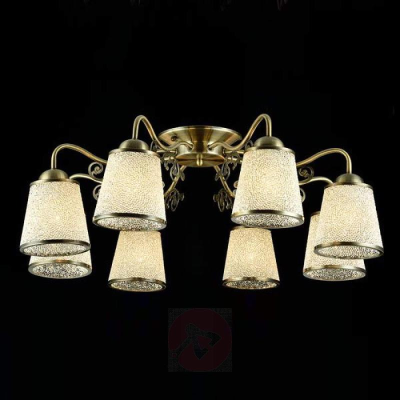 Classic ceiling light Ring with glass lampshades - indoor-lighting