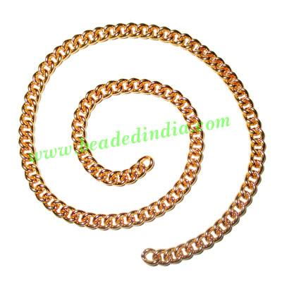 Gold Plated Metal Chain, size: 1x4mm, approx 26.5 meters in  - Gold Plated Metal Chain, size: 1x4mm, approx 26.5 meters in a Kg.