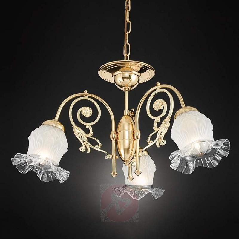 Three-bulb chandelier Ringstrasse in brass - Chandeliers