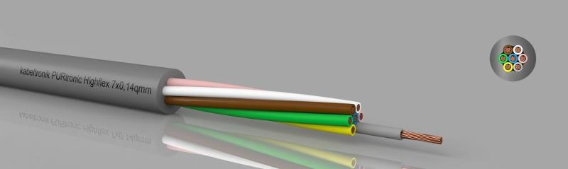 Control cables - PURtronic Highflex PUR-control cable, high flexible