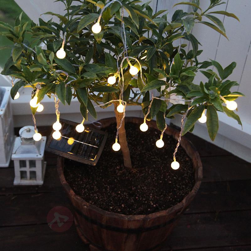 Guirlande LED solaire Globini, blanc chaud - Lampes solaires décoratives