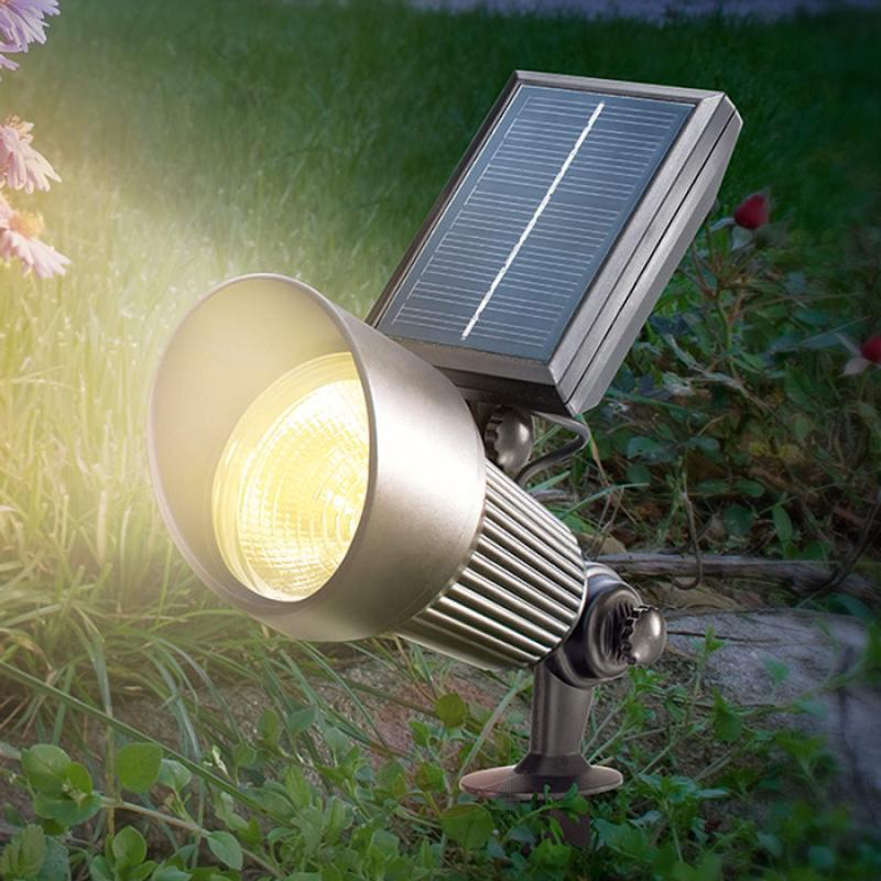 Black LED solar Spotlight with RGB light - outdoor-led-lights