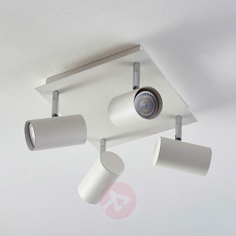 Square LED ceiling light Iluk, 4-bulb - Spotlights