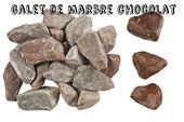 Galets de marbre - Galet chocolat : Galet de marbre gris et rouge.