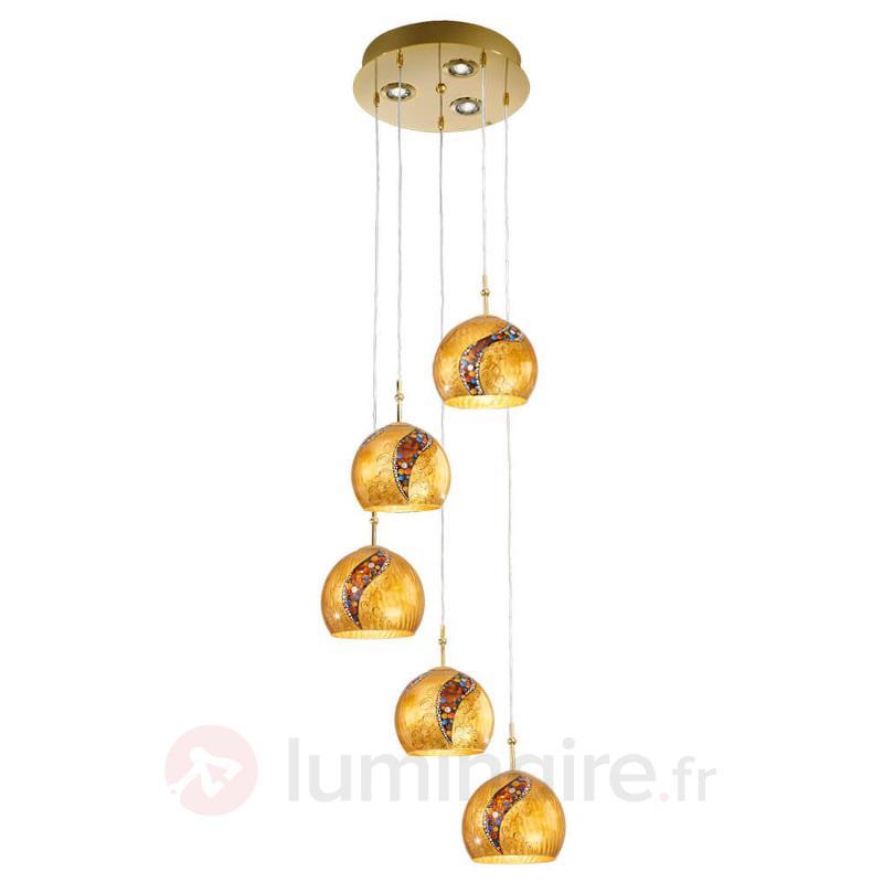 Suspension à 8 lampes Klimt LEONA KISS - Suspensions design