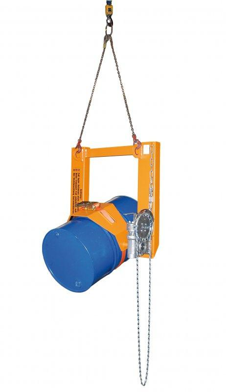 Fasskipper Typ FLEX, Anbaugerät für Gabelstapler - Transportieren, dosiertes Kippen, Wenden und Ablegen von Fässern
