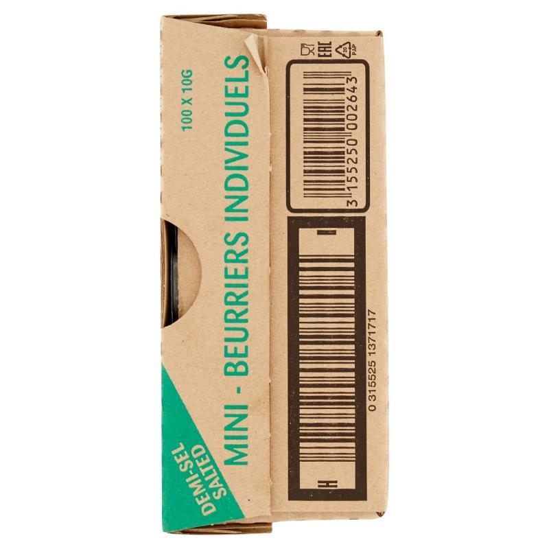 Président Mini-Beurriers Demi-Sel 100 x 10 g - Salumi latticini e uova - Latticini e formaggi