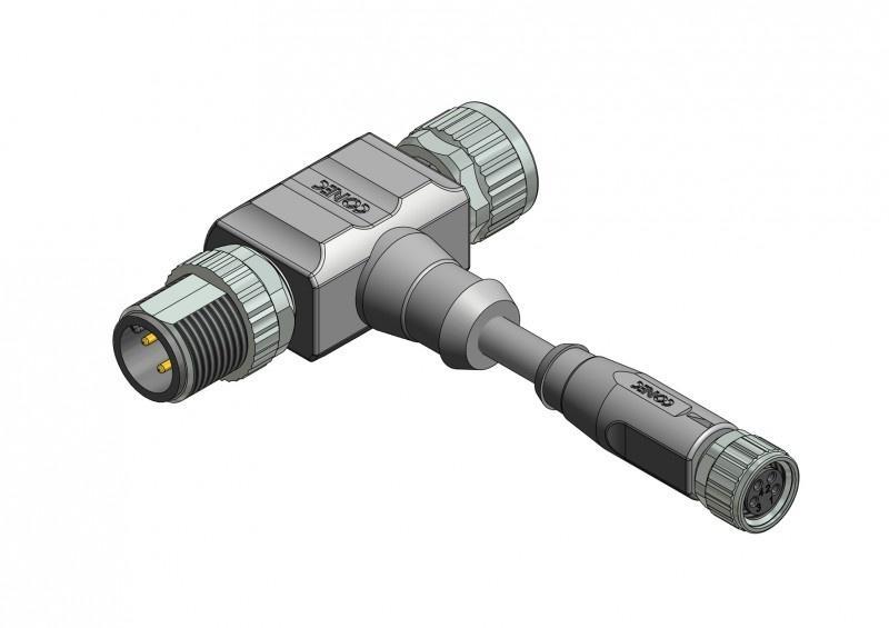 "M8x1/ M12x1/ 7/8""  T-Splitter/Adapter - M8x1/ M12x1/ 7/8""  T-Splitter/Adapter"