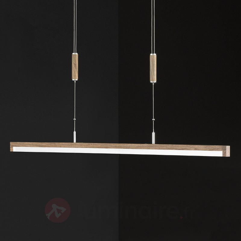 Suspension dimmable LED avec des barres de bois - Suspensions LED