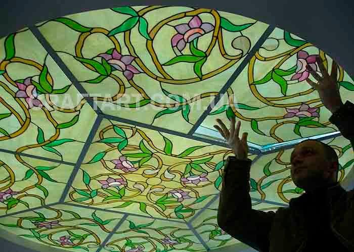 Витраж - Витражные потолки, окна, лампы Тиффани