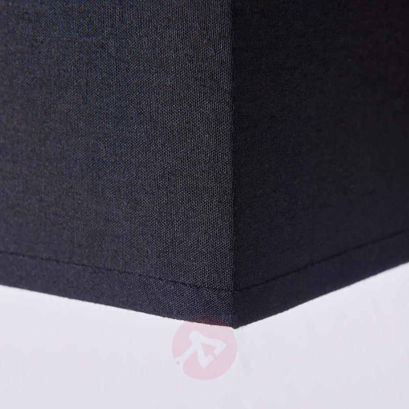 Black fabric wall lamp Annalisa, rectangular shape - indoor-lighting