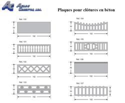 Clôtures en béton - Esthétiques et économiques.