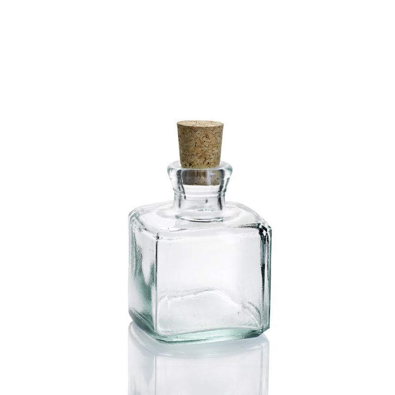24 Mini flacons 200 ml Licorera Carrée avec bouchon en liège - Mini Bouteilles, Mini flacons