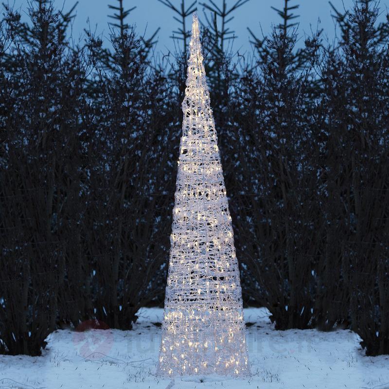 Pyramide LED très lumineuse, 150 lampes - Lampes décoratives d'extérieur