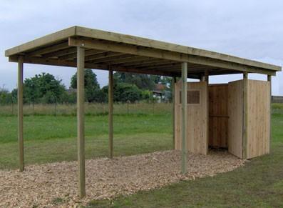 carport en bois avec atelier toit plat france abris france. Black Bedroom Furniture Sets. Home Design Ideas