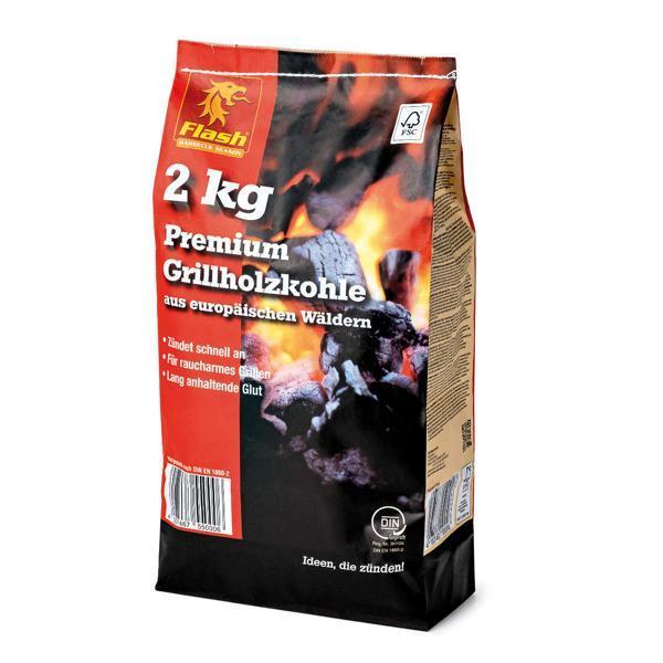 FLASH Grillholzkohle PREMIUM 2 kg FSC -