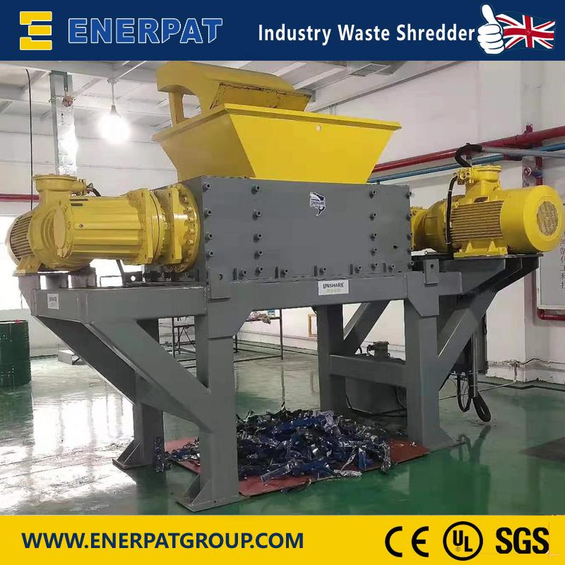 Chemical Barrels Shredder (ES-S1050) - Waste Shredder Unique Application Shredder