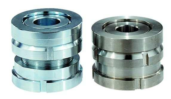 Höhenverstell-Elemente mit Kugel-Ausgleichsscheibe - Höhenverstell-Elemente mit Kugel-Ausgleichsscheibe, normale und kurze Ausführung