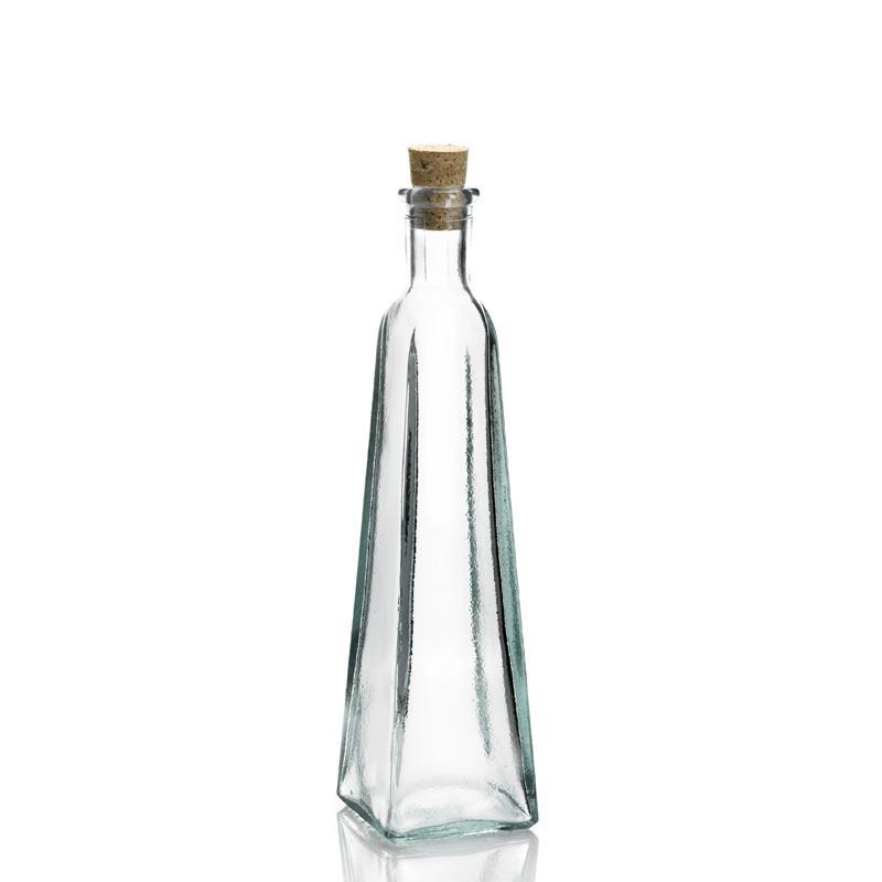 12 bouteilles 300 ml Pyramide avec bouchon en liège - Flacons et Carafes