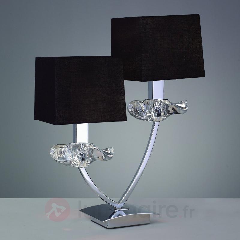 Lampe à poser décorative AKIRA à 2 lampes - Lampes à poser en tissu
