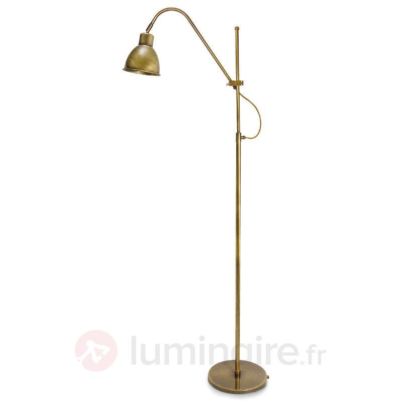 Lampadaire en laiton Persefone réglable en hauteur - Lampadaires rustiques