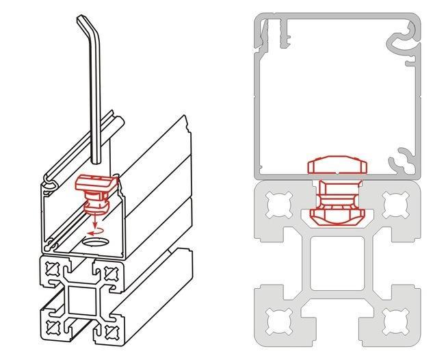 El sistema de canalización de cables BLOCAN de aluminio -