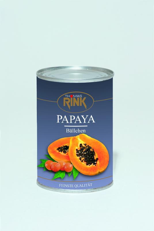 Papaya-Bällchen, 425 ml, leicht gezuckert - null