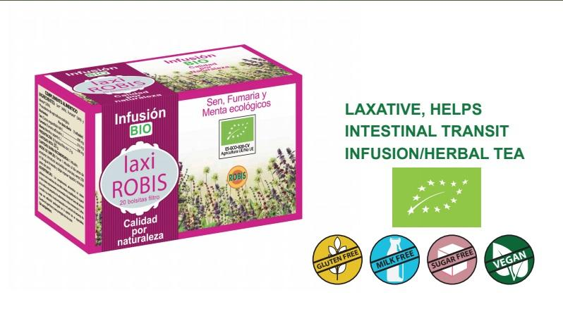 Laxi Robis Bio - Laxative, helps intestinal transit, infusion/herbal tea