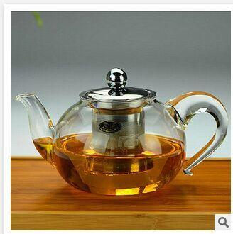 GLASS TEAPOT WITH S/S PARTS  - 800ML
