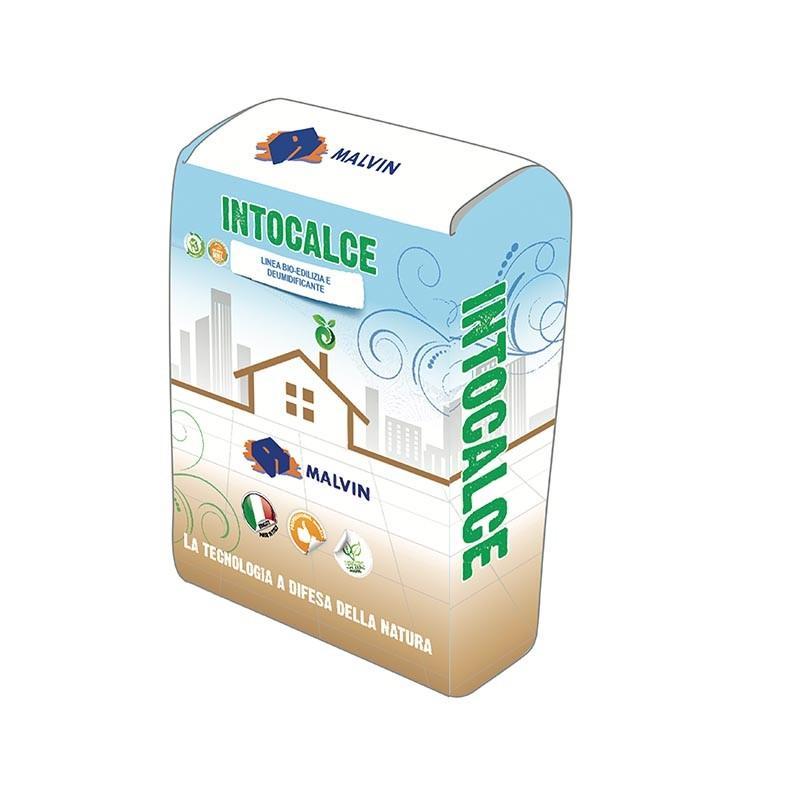 Eco-Friendly Bio base coat plaster  Intocalce - Compliant with UNI EN 998-1