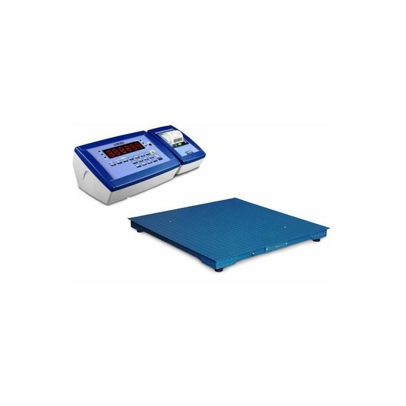 Bilancia industriale a pavimento 15 quintali - Bilancia per pesatura industriale con portata 15 quintali e stampante.
