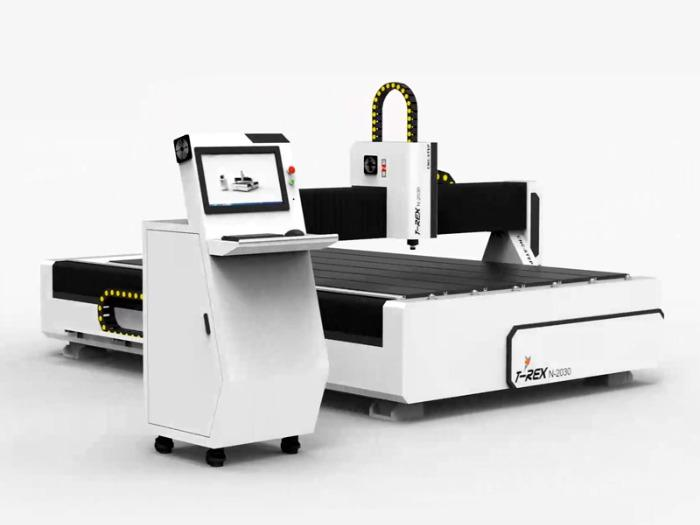 CNC Portal Milling Machine T-Rex 2030 Engraving machine - Travel paths 3000 x 2000 mm with bellows and closed energy chains