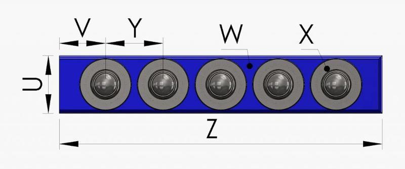 Ball caster – ball units rails - null