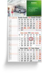 3-Monatsplaner - 3-Monats-Wandkalender Memo grau - 4-sprachige Ausgabe