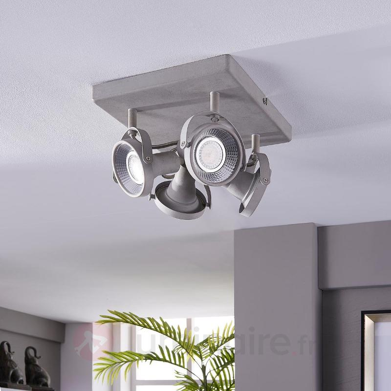 Plafonnier LED rectangulaire Pieter à 4 lampes - Spots et projecteurs LED