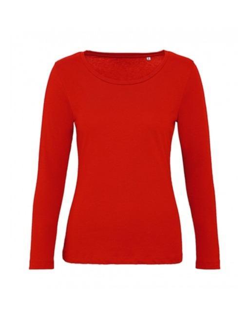 T-shirt 100% cotone organico manica lunga per donna - T-shirt 100% donna manica lunga, cotone organico di qualita' ed eleganza