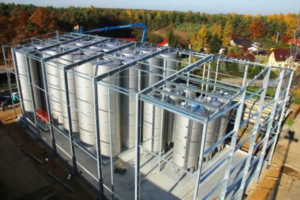 Aseptic automated tank rooms for NFC juices and concentrates -  fitted with complete piping and control system