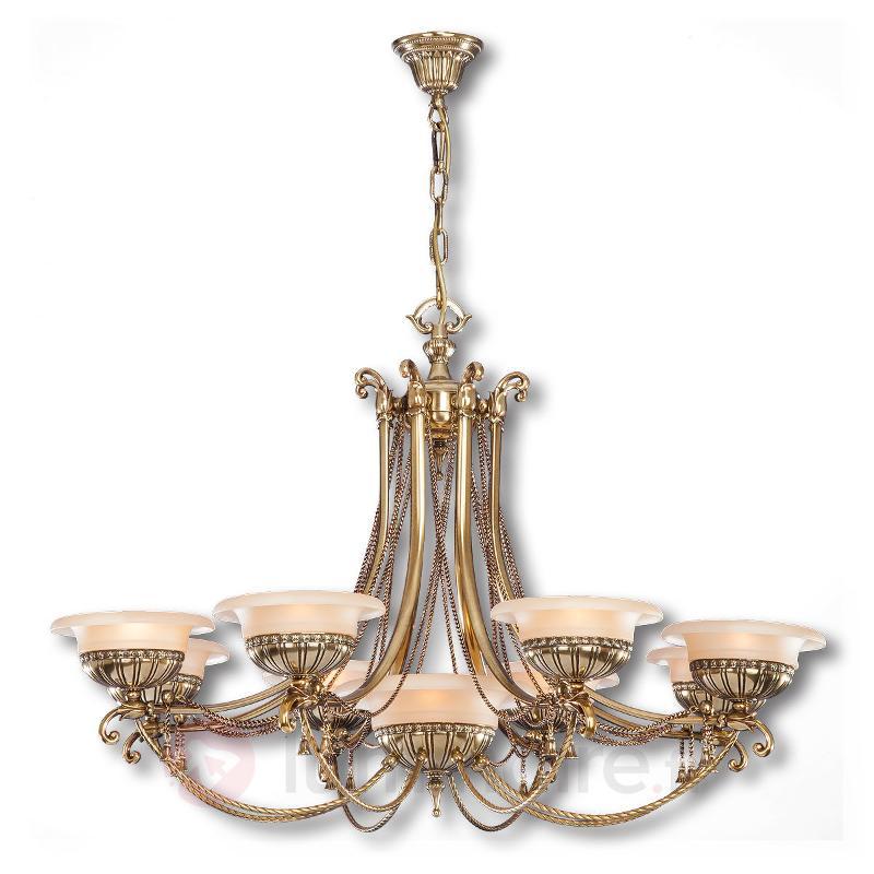 Lustre Evita en laiton, à 9 lampes - Lustres classiques,antiques