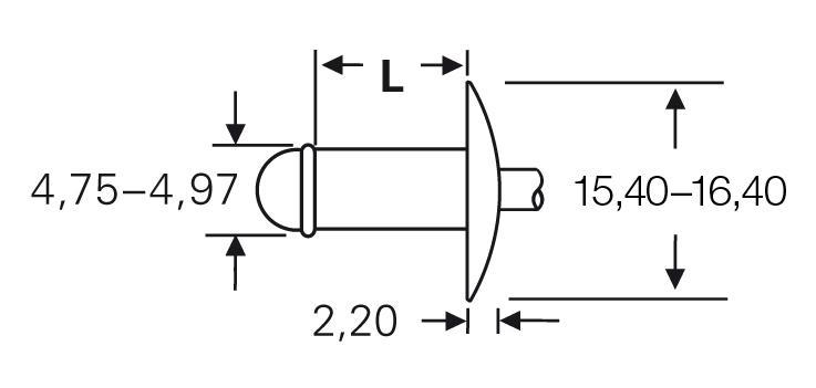 Blind rivet technology - POP® - High-retention rivets - Large flange