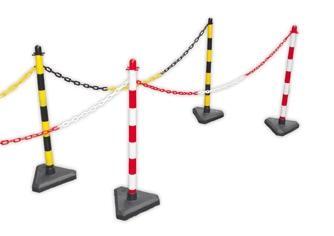 Plastic chain post - yellow/black - H 86 cm - 3 kgs - SIKEPAGZ